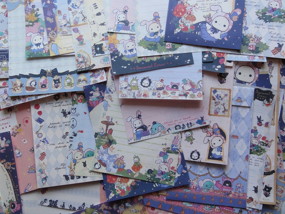 San-X Sentimental Circus Alice Stationery Set - A