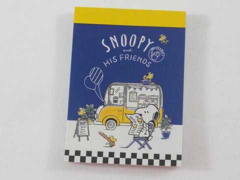 Cute Kawaii Snoopy Food Truck Reading Mini Notepad / Memo Pad - Stationery Design Writing Collection
