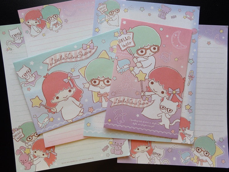 Sanrio Little Twin Stars Kiki Glasses Letter Sets