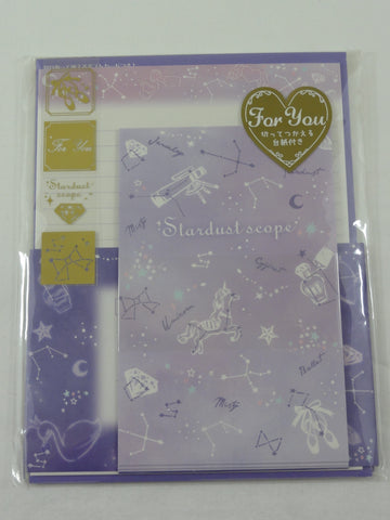 Cute Kawaii Kamio Stardust Letter Set Pack - Stationery Writing Paper Penpal Collectible