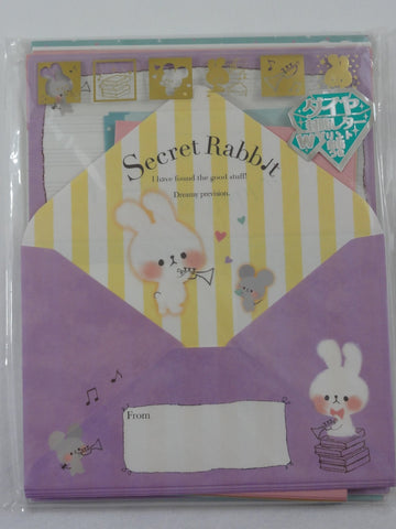 Cute Kawaii Kamio Secret Rabbit Letter Set Pack - Stationery Writing Paper Penpal Collectible