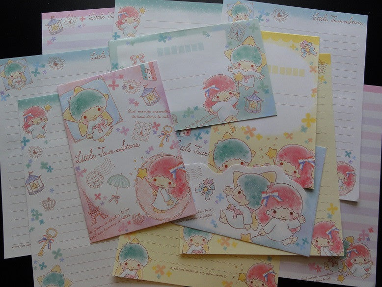 Sanrio Little Twin Stars Clover and Ribbon Letter Sets