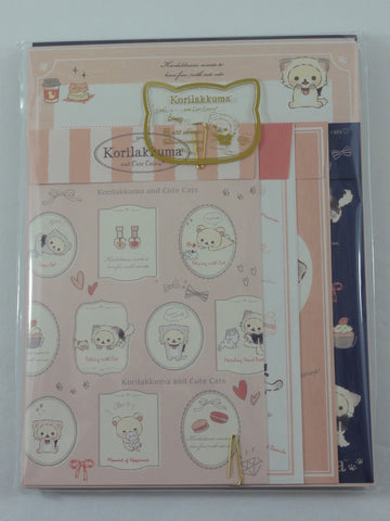 Cute Kawaii San-X Korilakkuma Letter Set Pack - Stationery Writing Paper Envelope Penpal Rare Collectible