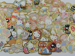 Cute Kawaii Sanrio Characters Hello Kitty My Melody Little Twin Stars Cinnamoroll Pochacco Badtz Maru Flake Sack Stickers - 60 pcs - 2018