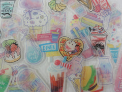 Cute Kawaii Drinks and Sweets theme Flake Sack Stickers - 32 pcs