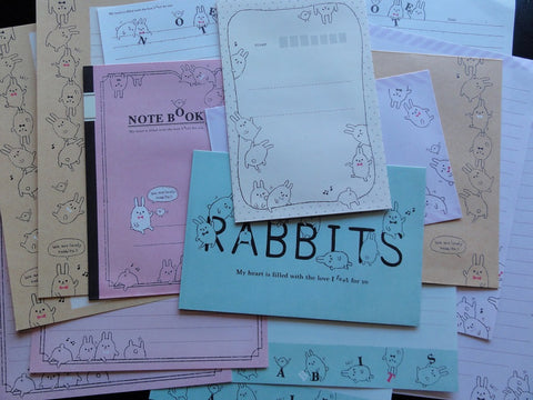 z Q-Lia Rabbits Letter Sets