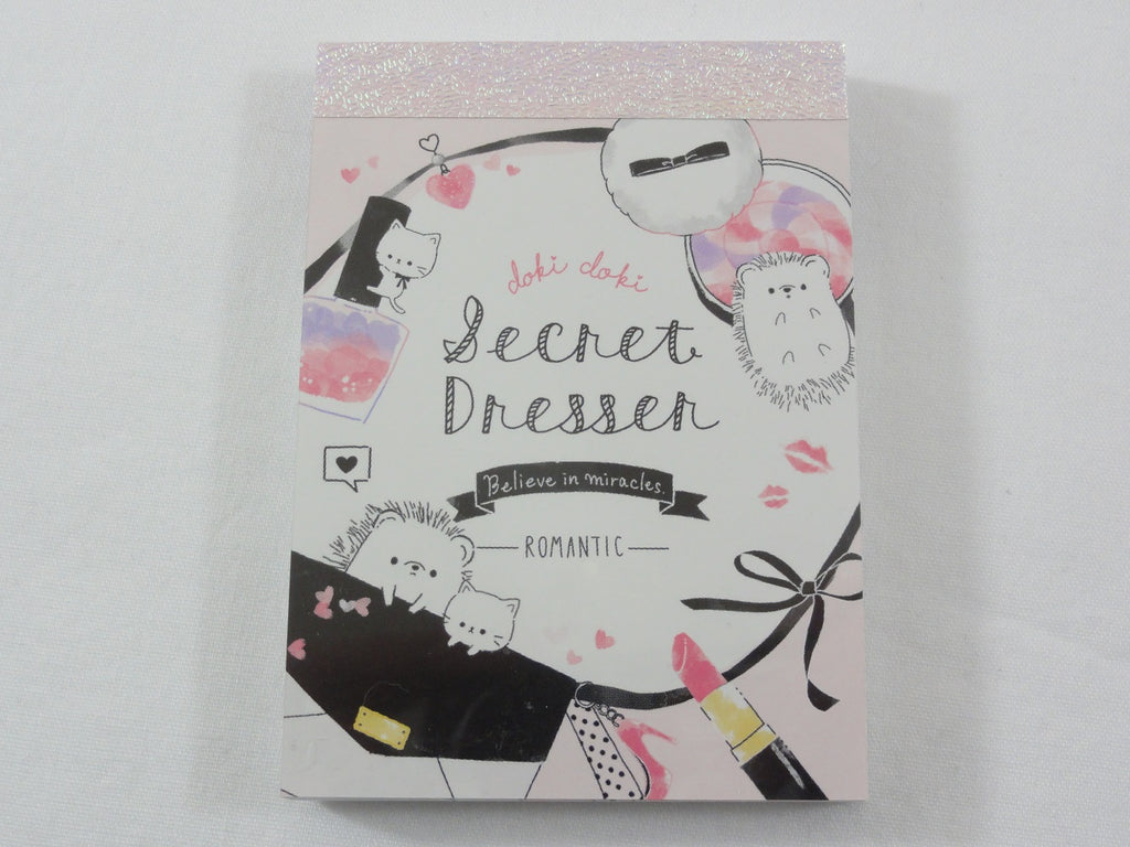 Cute Kawaii Crux Hedgehog Secret Dresser Mini Notepad / Memo Pad - Stationery Designer Paper Collection