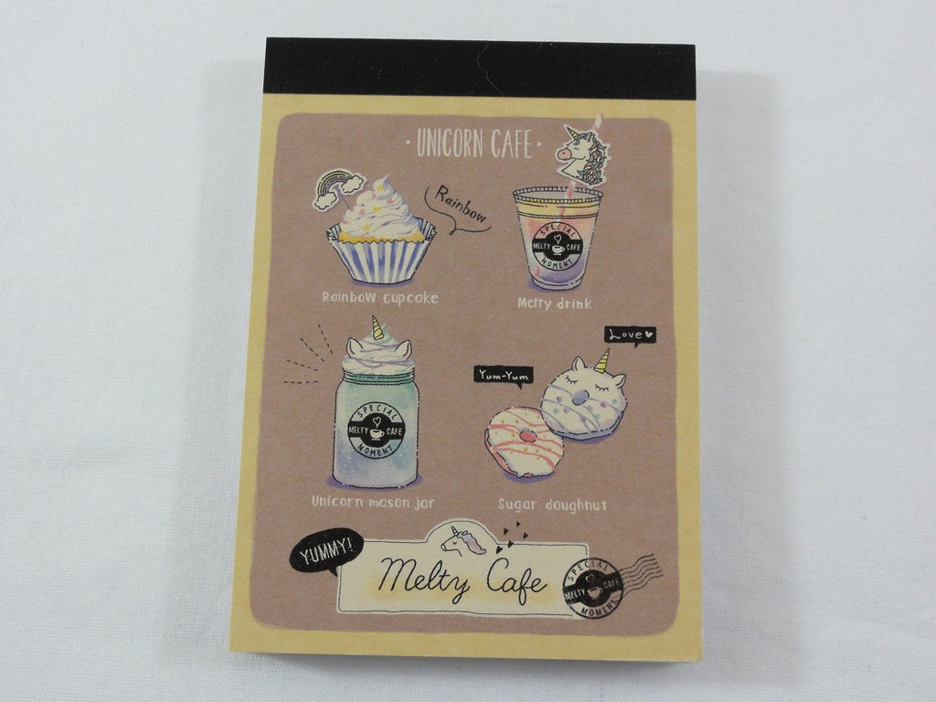 Cute Kawaii Crux Melty Cafe Coffee Drink Mini Notepad / Memo Pad - C - Stationery Designer Paper Collection