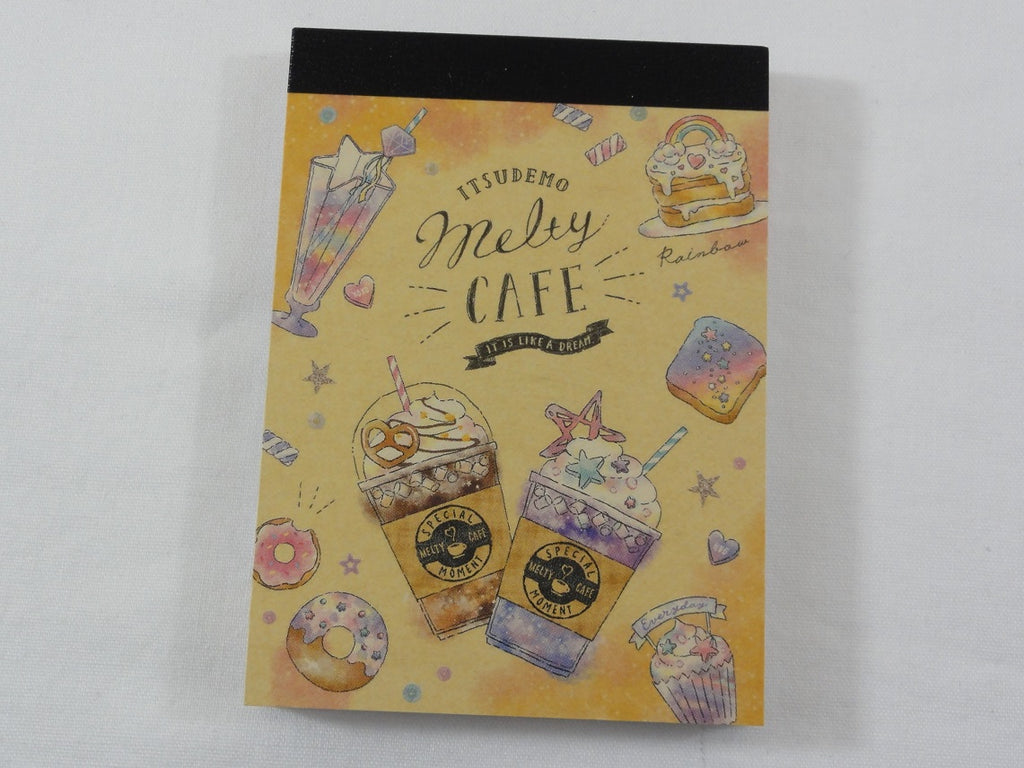 Cute Kawaii Crux Melty Cafe Coffee Drink Mini Notepad / Memo Pad - D - Stationery Designer Paper Collection