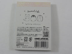 Cute Kawaii Kamio Hedgehog Dog Cat Pet Mini Notepad / Memo Pad - Stationery Designer Paper Collection