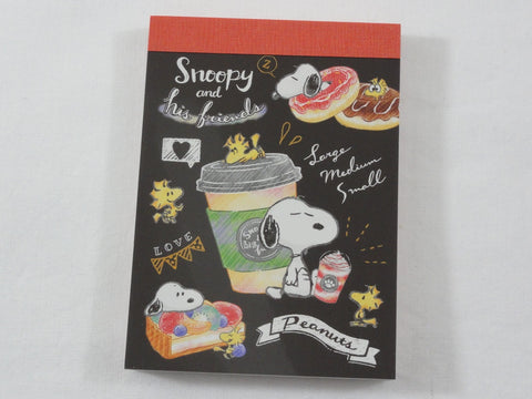Cute Kawaii Snoopy Coffee Mini Notepad / Memo Pad - Stationery Designer Writing Paper Collection