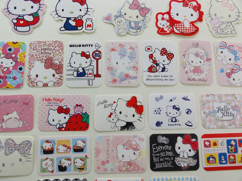 Sanrio Hello Kitty Flake Sack Stickers - 25 pcs 2015