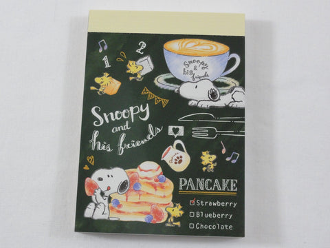 Cute Kawaii Snoopy Cafe Mini Notepad / Memo Pad - Stationery Designer Writing Paper Collection