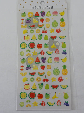 Cute Kawaii Crux Fresh Fruits Sticker Sheet - for Journal Planner Craft