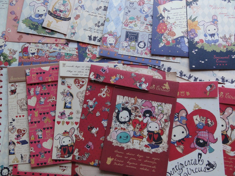 San-X Sentimental Circus Alice Letter Paper + Envelope Theme Set