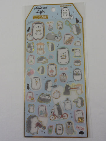 Cute Kawaii Kamio Hedgehog Sticker Sheet - for Journal Planner Craft