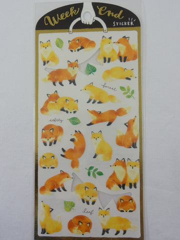 Cute Kawaii Mind Wave Fox Sticker Sheet - for Journal Planner Craft