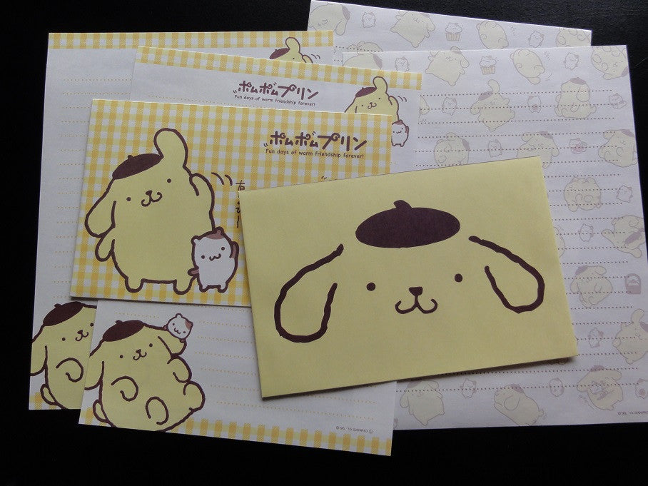 Kawaii Cute Pom Pom Purin Letter Sets - C