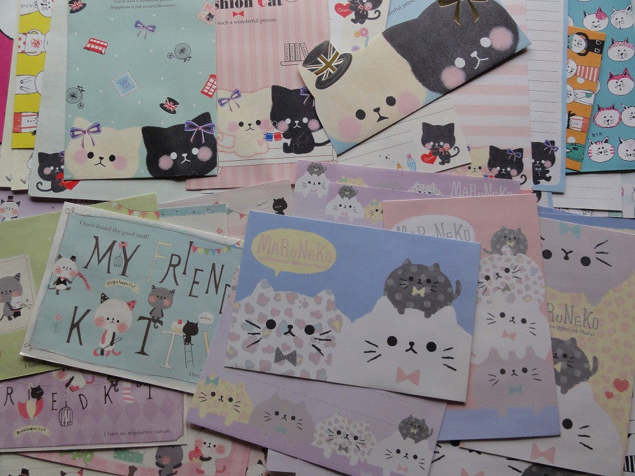 Cat / Kitten / Kitty Letter Paper + Envelope Theme Set A