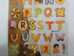 Cute Kawaii Mind Wave Bread Cookie Alphabet Sticker Sheet - for Journal Planner Craft