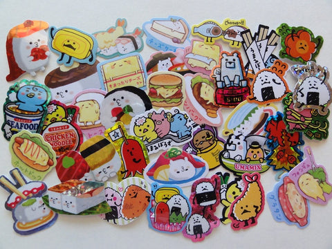 Cute Kawaii Sushi Rice Noodle Japan Food theme Flake Stickers - 40 pcs