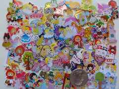 Princess Fairy Tale Flake Sack Stickers - 70 pcs