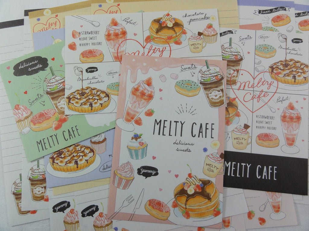 Cute Kawaii Crux Cafe Coffee Collection Letter Sets - Stationery Writing Paper Envelope Penpal