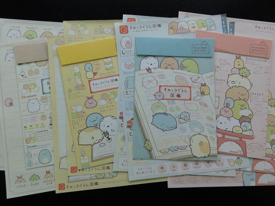 San-X Sumikko Gurashi Friends Letter Sets - D
