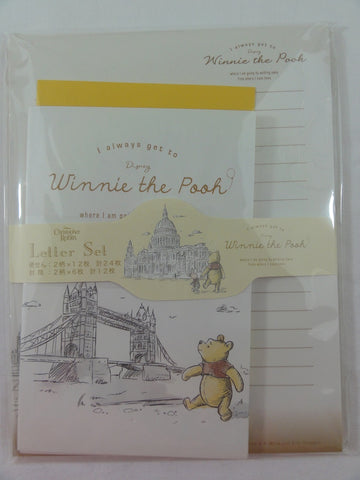 Cute Kawaii Winnie the Pooh Bear Christopher Robin Letter Set Pack