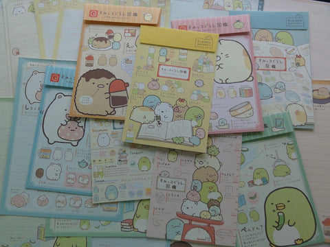Kawaii Cute San-X Sumikko Gurashi Letter Writing Paper + Envelope Theme Stationery Set - A