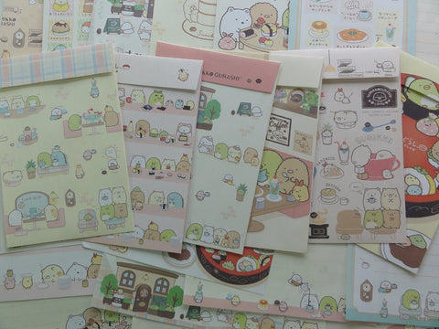 San-X Sumikko Gurashi Food Theme Letter Paper + Envelope Theme Set