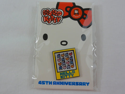 Cute Kawaii Hello Kitty Collectible Pin - 45th Anniversary - B