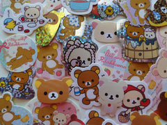 San-X Rilakkuma Bear Flake Stickers - 42 pcs