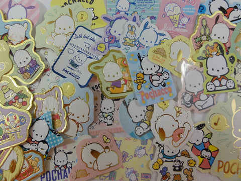 Sanrio Pochacco Dog Flake Sack Stickers - 38 pcs