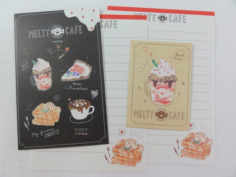 Cute Kawaii Crux Cafe Coffee Mini Letter Sets - Small Writing Note Envelope Set Stationery