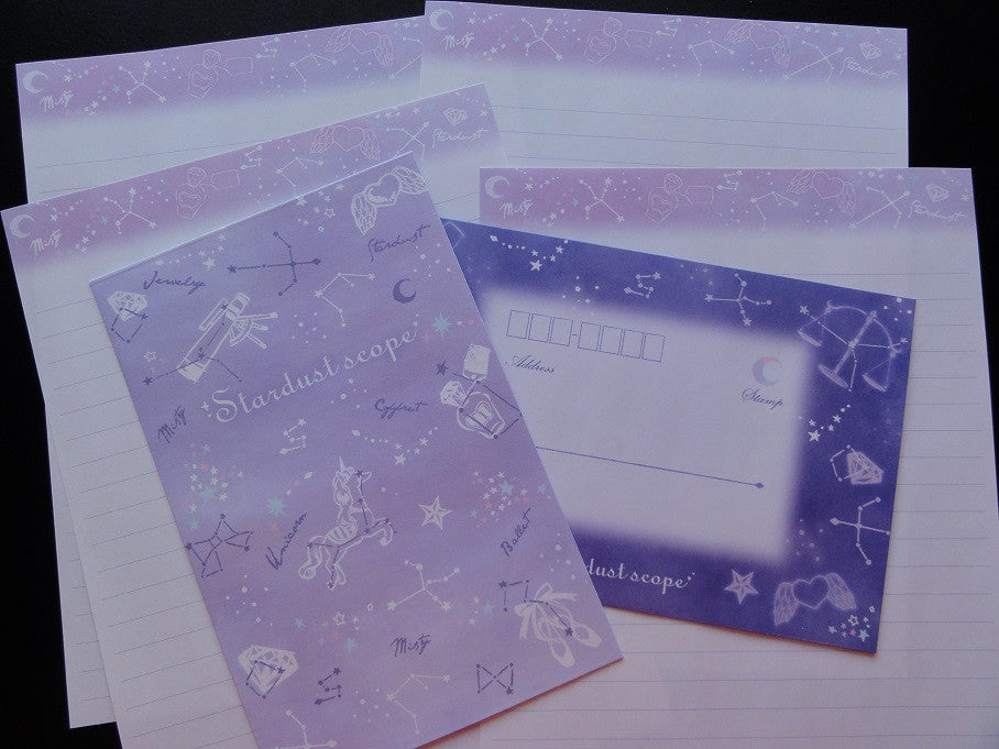 Kamio Space Horoscope Stars Stardust Scope Letter Sets