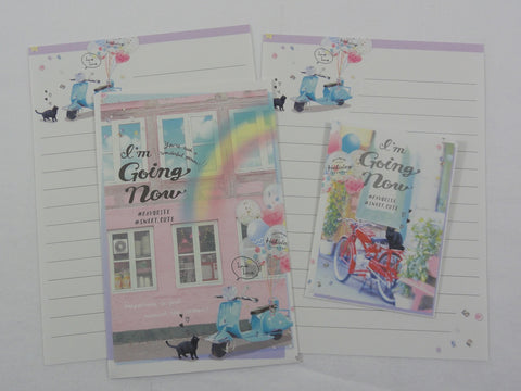 Cute Kawaii Crux Cat Spring Outdoor Mini Letter Sets - Small Writing Note Envelope Set Stationery
