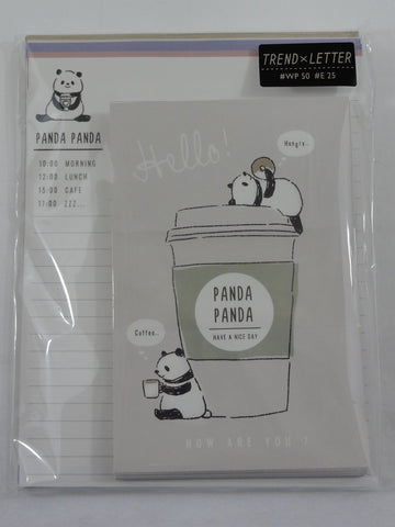 Cute Kawaii Kamio Panda Drink Bread Milk Letter Set Pack - Stationery Writing Paper Envelope Penpal