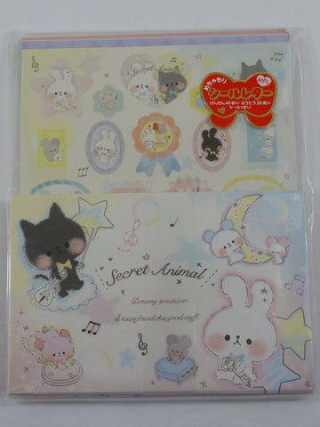 Cute Kawaii Kamio Star Secret Cat Rabbit Letter Set Pack - Rare - Stationery Writing Paper Envelope Penpal
