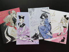 Kawaii Cute Japan Girl Kimono Anime Manga Postcards - A