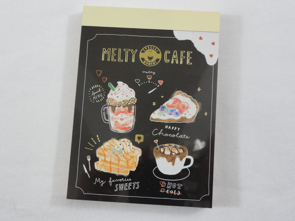 Cute Kawaii Crux Melty Cafe Coffee Drink Mini Notepad / Memo Pad - E - Stationery Designer Paper Collection