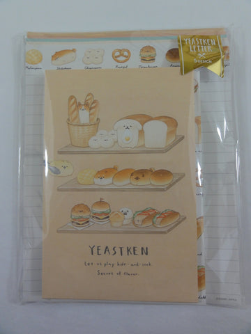 Cute Kawaii Kamio Bread Letter Set Pack - Stationery Writing Paper Envelope Penpal