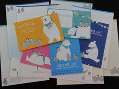 Kawaii Cute Bear and Penguins North Pole Winter Letter Sets