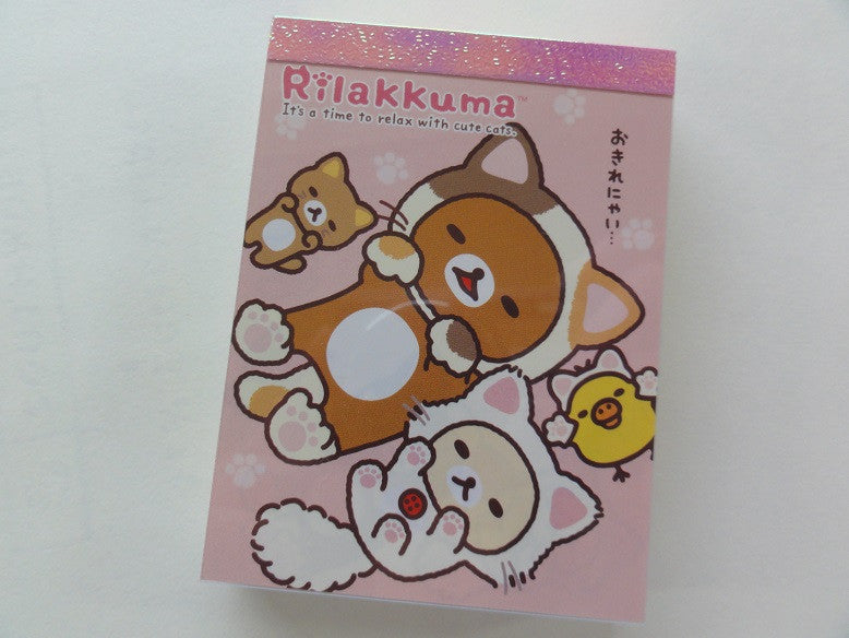 Kawaii Cute San-X Rilakkuma Cat Mini Notepad / Memo Pad - D