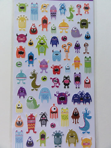 Kawaii Cute Sticko Monster Sticker Sheet