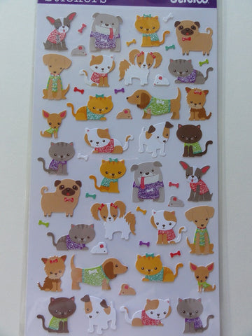 Kawaii Cute Sticko Cat and Dog Sticker Sheet