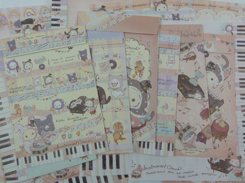 San-X Sentimental Circus Piano Letter Paper + Envelope Theme Set
