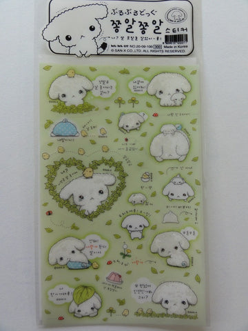 Kawaii Cute San-X Buru Buru Dog Sticker Sheet - Green