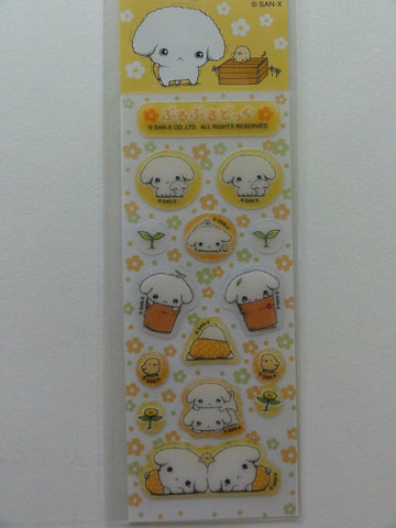 Kawaii Cute San-X Buru Buru Dog Small Sticker Sheet - Yellow