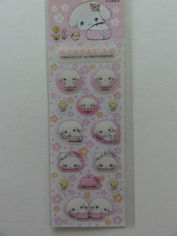 Kawaii Cute San-X Buru Buru Dog Small Sticker Sheet - pink